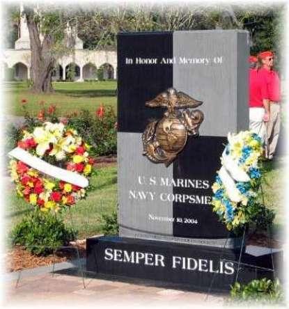 History behind the USMC/FMF Corpsmen Memorial